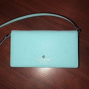 FIRM $ Kate Spade Lt Blue IPhone 5/5s/6/6s wallet